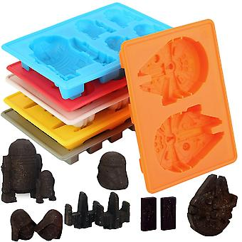 6pcs/kit Ice Tray Silicone Mold Cube Tray Chocolate Fondant Moulds