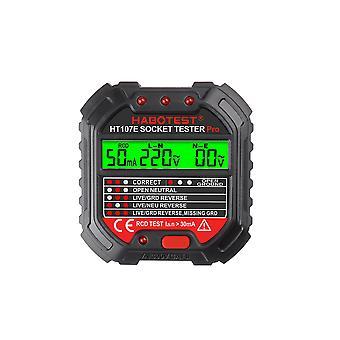 ハボテスGfciアウトレットテスター電圧90-250vソケットテスター自動電気回路極性電圧検出器ブレーカファインダー