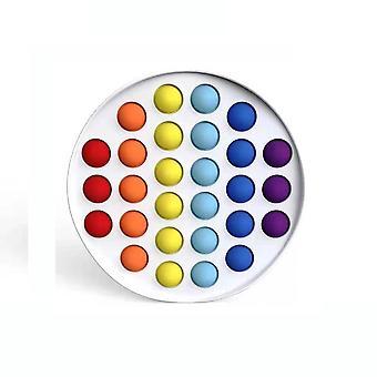 Rotund colorat Push Pop Bubble Silicon Fidget Jucărie Stress Reliever