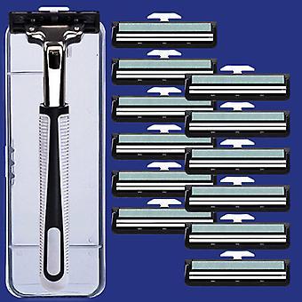 1+1+12kpl manuaalinen parranajokone - Kaksiteräinen parranajokone