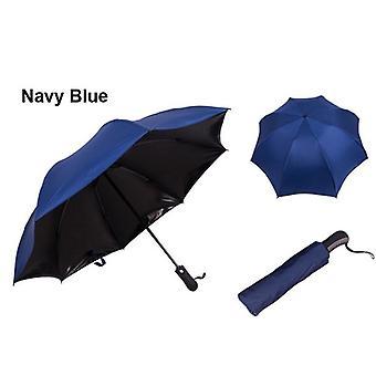 Nytt av automatiskt 3-faldigt paraply, reflexparaply, bärbart solparaply