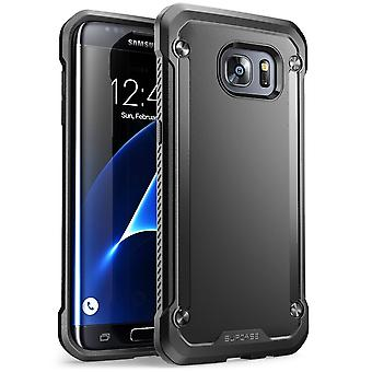SUPCASE Galaxy S7 Edge Unicorn Beetle Hybrid Bumper Case - Solid Black