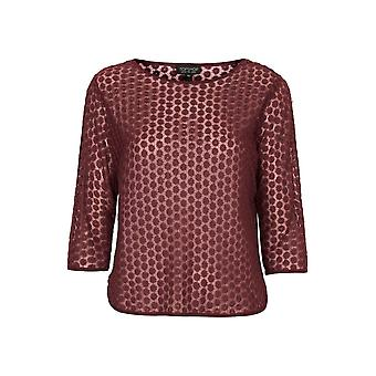 Topshop Daisy Embroidered Mesh Tee TP555-12