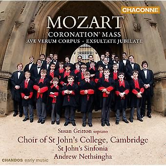 W.a. Mozart - Mozart: Messe du couronnement; Ave Verum Corpus; Exsultate, Jubilate [CD] USA import