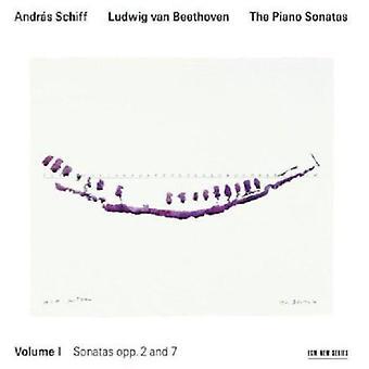 Andras Schiff - Beethoven: The Piano Sonatas, Vol. 1 - Opp. 2 & 7 [CD] USA import