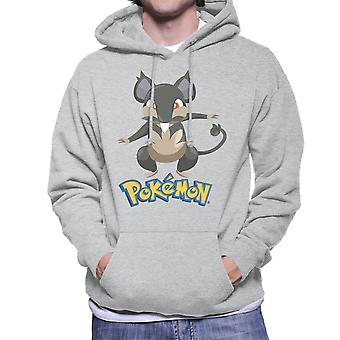 Alola Rattata Pokemon Sun Moon Men's Hooded Sweatshirt