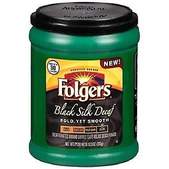 Folgers Black Silk Decaf Bold, Yet Smooth Ground Coffee