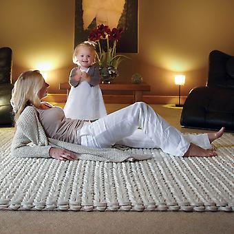 Urbane Felted Wool Rugs In Ivory