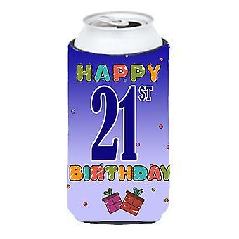 Glad 21: a födelsedag lång pojke dryck isolator Hugger