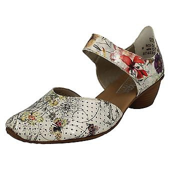 Ladies Rieker Casual Heeled Shoes 43789