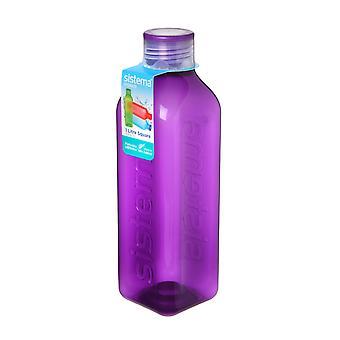 Sistema-Hydrat 1L quadratische Trinkflasche, lila