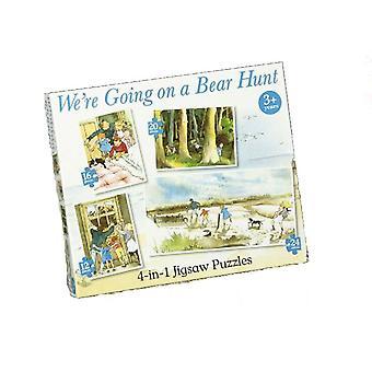 Vi skal på en bjørn Hunt 4 inne 1 puslespill