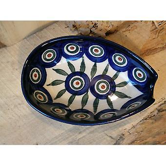 Spoon, 12.5 x 8.5 cm, tradition 10, Upper Lusatia ceramic - BSN 2365