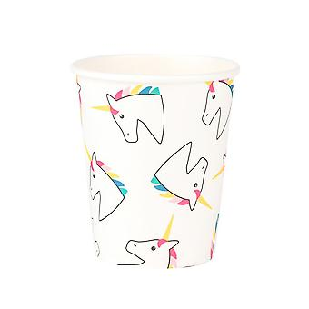 Unicorn Party Paper Cups Pack of 8