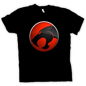Mens T-shirt - Thundercats Red / Black Logo