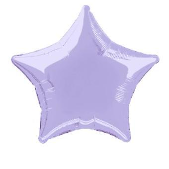Foil Balloon Star Solid Metallic Lavender