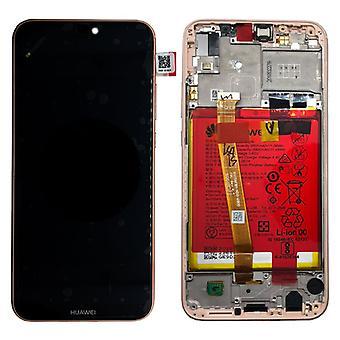 Unità di Huawei display LCD + telaio per P20 Lite Service Pack 02351VUW rosa nuovo