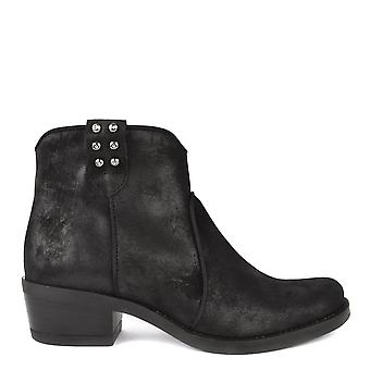 Kanna Kelly Black Suede Ankle Boot
