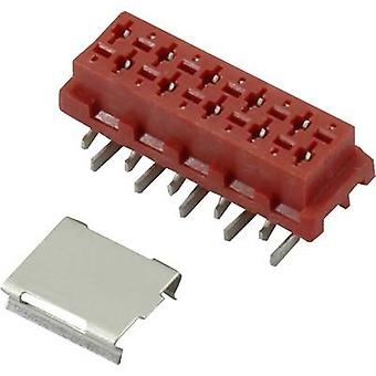 Connfly Pin enclosure - PCB Micro-MaTch Total number of pins 4 Contact spacing: 1.27 mm DS1015-06-04R6SR 1 pc(s)
