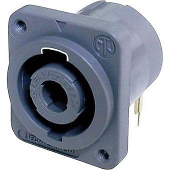 Neutrik NL4MDH Audio jack Sleeve socket, right angle pins Number of pins: 4 Black 1 pc(s)
