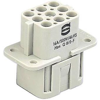 Harting 09 12 008 3101 socket infälld han® Q 8 + PE Crimp 1 st (s)