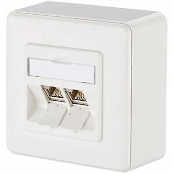 Metz Connect Network Outlet Surface-Mount CAT 6 2-poorten zuiver wit