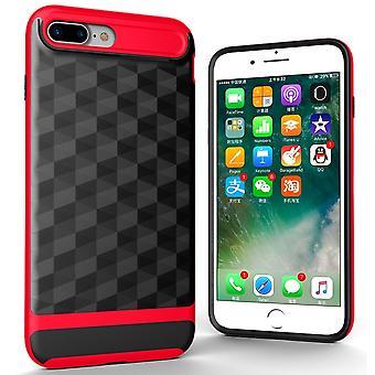 Couverture pour Apple iPhone 7 plus couverture arrière affaire cache-téléphone cellulaire - Prism 3D conception de la couverture rouge