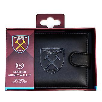 West Ham United FC Herre officielle RFID-præget læder tegnebog