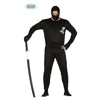 Negru clasic ninja costum Shadow luptător bărbați o dimensiune