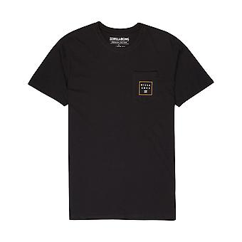 Billabong Stacked Short Sleeve T-Shirt in Black