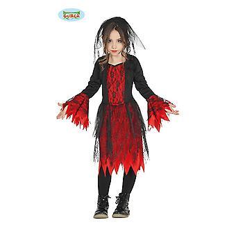 Gothic Braut Kostüm für Mädchen Halloween Horror Vampirin Vamp Halloweenkostüm