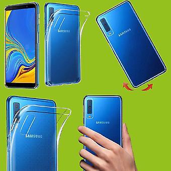 Samsung Galaxy A7 A750F 2018 Silikoncase läpinäkyvä laukku case kansi uusi