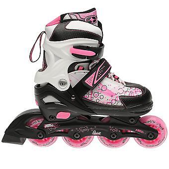No Fear Kids Girl Spirit Inline Skates Shoes Roller Triple Closure Hook and Loop