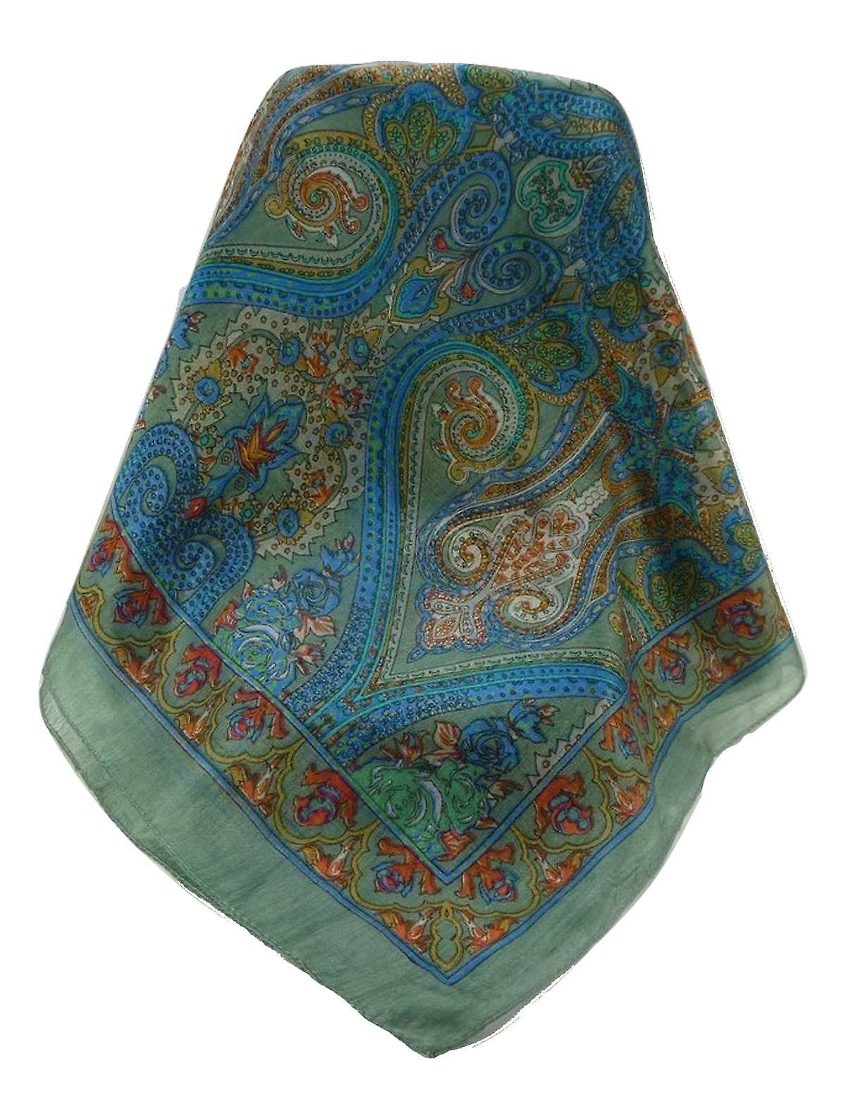 Mulberry Silk Traditional Long Scarf Godavary Charcoal by Pashmina & Silk