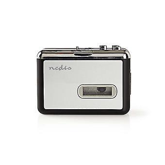 Nedis ACGRU100GY portable convertisseur Usb pour Cassette en Mp3 avec câble Usb et logiciel