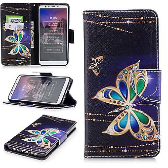 For Huawei P smart 2019 / honor 10 Lite synthetic leather pocket wallet motif 32 protection sleeve case cover pouch new