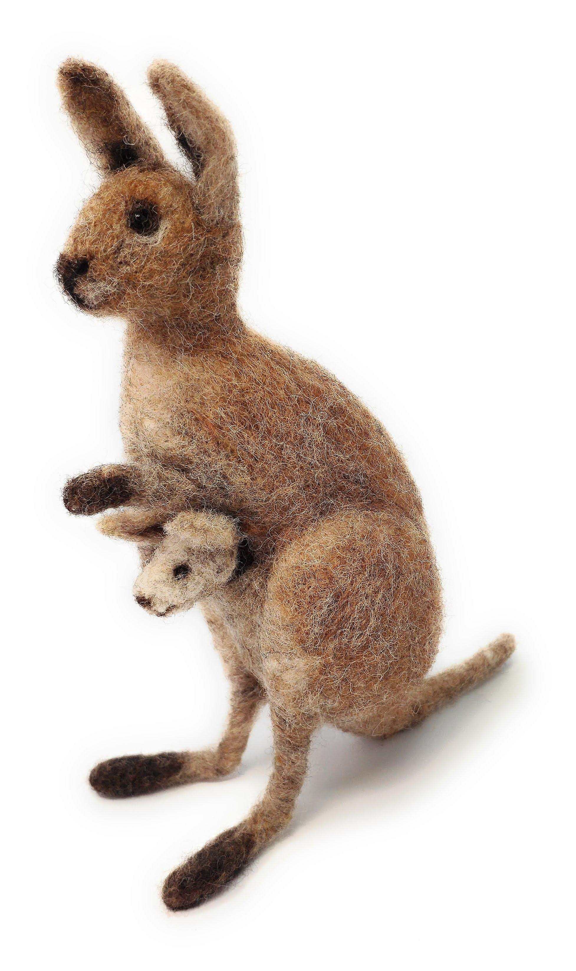 Kangaroo & Joey Needle Felting Kit