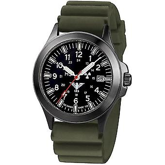 KHS watches mens watch black platoon titanium chronograph KHS. BPTC. DO