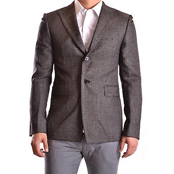 Bikkembergs Ezbc101015 Men's Grey Wool Blazer