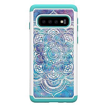 Samsung Galaxy S10 TPU-Skal Armor Extra Tåligt - Mandala Flower