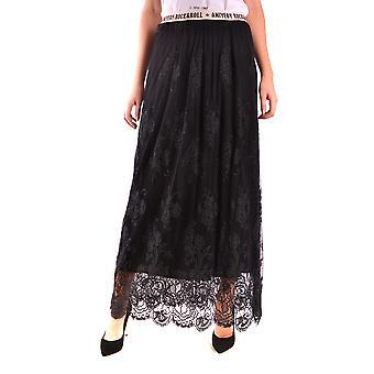 Aniye Door Ezbc098012 Women's Black Cotton Skirt