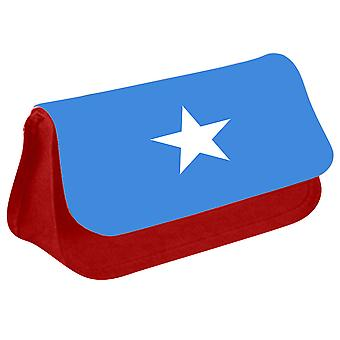Somalia Flag Printed Design Pencil Case for Stationary/Cosmetic - 0161 (Red) by i-Tronixs