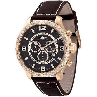 Zeno-watch reloj de gran tamaño retro Chrono Parisienne 8830Q-Pgr-h1