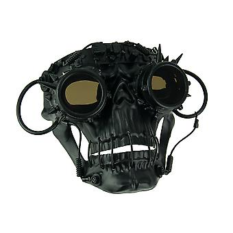 Black Steamskully Scary Spiked Steampunk Skull Costume Mask