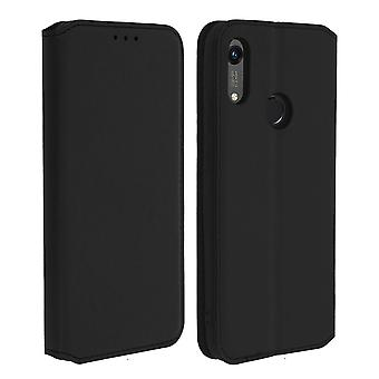 Classic Edition stand case with card slot for Honor 8A / Huawei Y6 2019 - Black