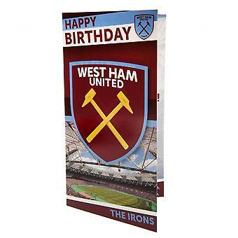 West Ham Iso FC syntymä päivä kortti