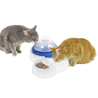 Catit Design Fresh & Clear Drinking Fountain With Food Bowl