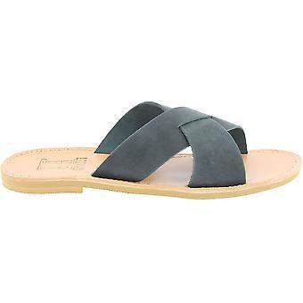 Attica Sandali 5052 Uomini's Flip flop in pelle nera
