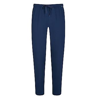 Mey 20760-664 Herren's Lounge Neptune Blue Cotton Pyjama Pyjama Hose