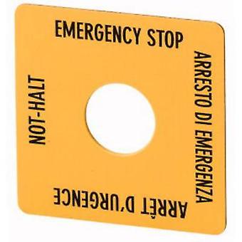 Eaton SQT11 Etichetta quadrata (W x H) 50 mm x 50 mm EMERGENCY STOP (de, en, fr, it) Giallo, Nero 1 pc(s)